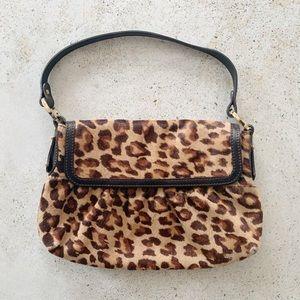 🐆 VINTAGE FENDI Calf Hair Leopard Shoulder Bag